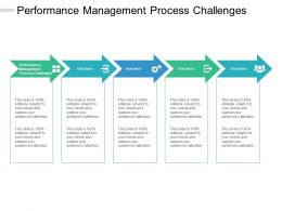 Performance Management Process Challenges Ppt Powerpoint Presentation Show Gallery Cpb