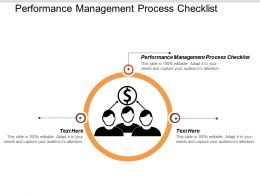 Performance Management Process Checklist Ppt Powerpoint Presentation Gallery Graphics Pictures Cpb