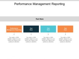 Performance Management Reporting Ppt Powerpoint Presentation Gallery Diagrams Cpb