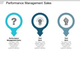 Performance Management Sales Ppt Powerpoint Presentation Icon Show Cpb