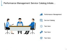 Performance Management Service Catalog Initiate Workflow Provision Infrastructure Cl