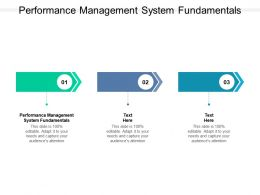 Performance Management System Fundamentals Ppt Powerpoint Model Cpb