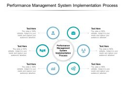 Performance Management System Implementation Process Ppt Powerpoint Presentation Slides Cpb