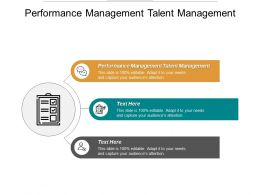 Performance Management Talent Management Ppt Powerpoint Presentation Gallery Example Cpb