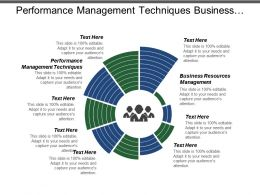 Performance Management Techniques Business Resources Management Project Management Process Cpb