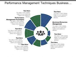Performance Management Techniques Business Resources Management Project Management Process Cpb