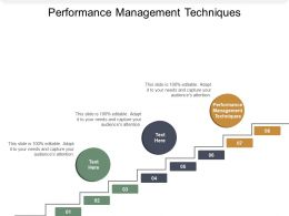 Performance Management Techniques Ppt Powerpoint Presentation Show Layout Cpb