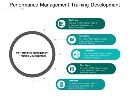 Performance Management Training Development Ppt Powerpoint Presentation Infographic Template Cpb