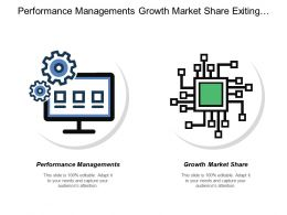 Performance Managements Growth Market Share Exiting Customers Economic Development
