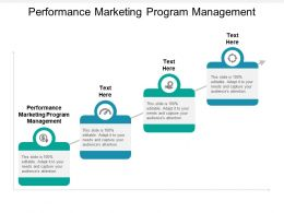 Performance Marketing Program Management Ppt Powerpoint Presentation Pictures Cpb