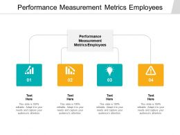 Performance Measurement Metrics Employees Ppt Powerpoint Professional Cpb
