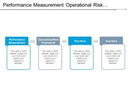 Performance Measurement Operational Risk Framework Business Communication Action Management Cpb