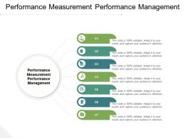 Performance Measurement Performance Management Ppt Powerpoint Presentation Pictures Ideas Cpb
