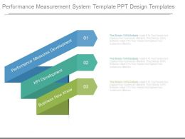 Performance Measurement System Template Ppt Design Templates