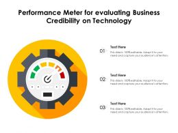 Performance Meter For Evaluating Business Credibility On Technology