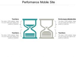 Performance Mobile Site Ppt Powerpoint Presentation Gallery Maker Cpb