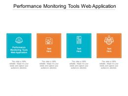 Performance Monitoring Tools Web Application Ppt Powerpoint Presentation Portfolio Graphics Template Cpb