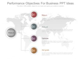 Performance Objectives For Business Ppt Ideas