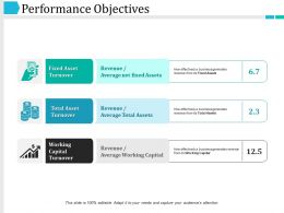 Performance Objectives Ppt Slide Templates