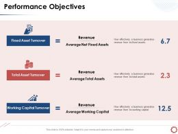 Performance Objectives Total Asset Turnover Powerpoint Presentation Elements
