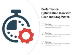 Performance Optimization Icon With Gear And Stop Watch