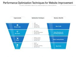 Performance Optimization Techniques For Website Improvement