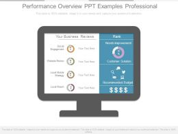 Performance Overview Ppt Examples Professional