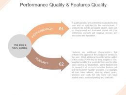Performance Quality And Features Quality Powerpoint Slide Backgrounds