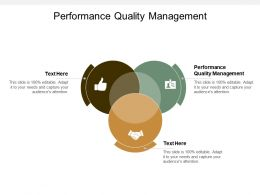 Performance Quality Management Ppt Powerpoint Presentation Icon Design Templates Cpb
