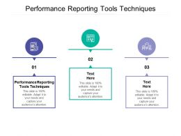 Performance Reporting Tools Techniques Ppt Powerpoint Presentation Outline Cpb