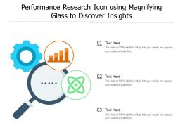 Performance Research Icon Using Magnifying Glass To Discover Insights