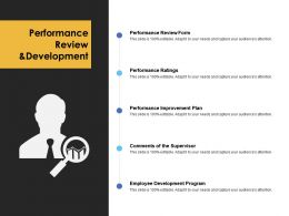 Performance Review And Development Performance Ratings Ppt Powerpoint Presentation