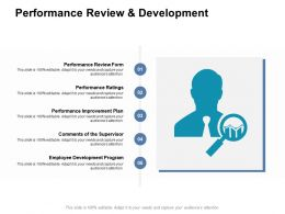 Performance Review And Development Supervisor Ppt Powerpoint Presentation Topics