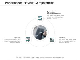 Performance Review Competencies Ppt Powerpoint Presentation Icon Cpb
