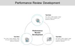 Performance Review Development Ppt Powerpoint Presentation Icon Styles Cpb