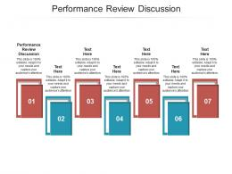 Performance Review Discussion Ppt Powerpoint Presentation Infographic Template Sample Cpb