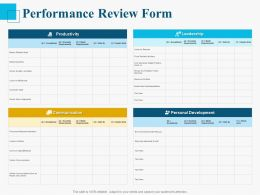 Performance Review Form Ppt Powerpoint Presentation Styles Good