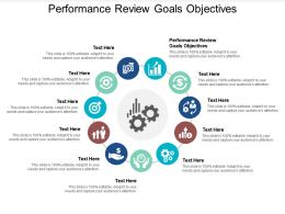 Performance Review Goals Objectives Ppt Powerpoint Presentation Ideas Backgrounds Cpb