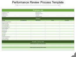 Performance Review Process Template Ppt Slide