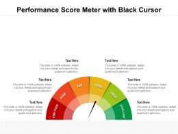 Performance Score Meter With Black Cursor
