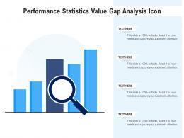Performance Statistics Value Gap Analysis Icon