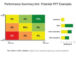 Performance Summary And Potential Ppt Examples