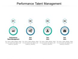 Performance Talent Management Ppt Powerpoint Presentation Icon Clipart Cpb