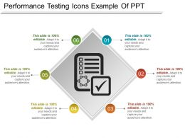 Performance Testing Icons Example Of Ppt