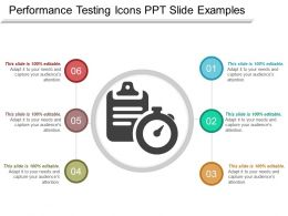 Performance Testing Icons Ppt Slide Examples