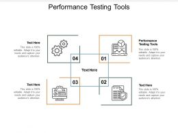 Performance Testing Tools Ppt Powerpoint Presentation Professional Demonstration Cpb