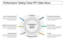 Performance Testing Tools Ppt Slide Show