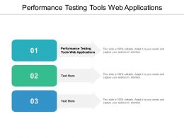 Performance Testing Tools Web Applications Ppt Powerpoint Presentation Infographic Cpb