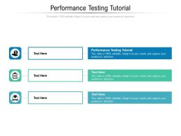 Performance Testing Tutorial Ppt Powerpoint Presentation Summary Files Cpb
