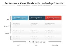 Performance Value Matrix With Leadership Potential